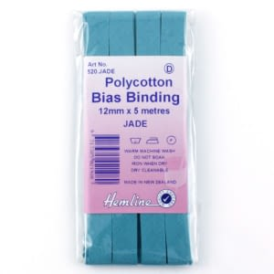 Polycotton Bias Bindings 12mm Jade